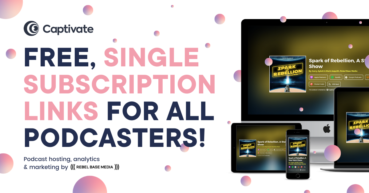 Single Subscription Links, Free for All Captivate Hosted Podcasters!