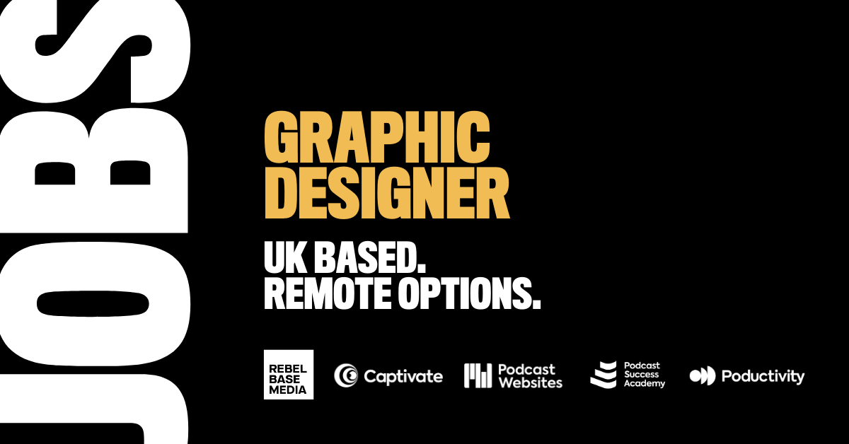Captivate podcast hosting graphic designer job